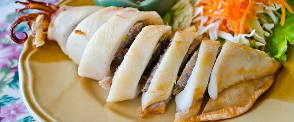 Блюда из кольца кальмаров рецепты с фото