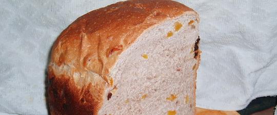 Сладкого хлеба с изюмом в хлебопечке