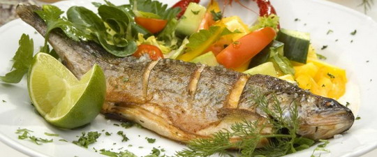 Меню диеты с рыбным супом